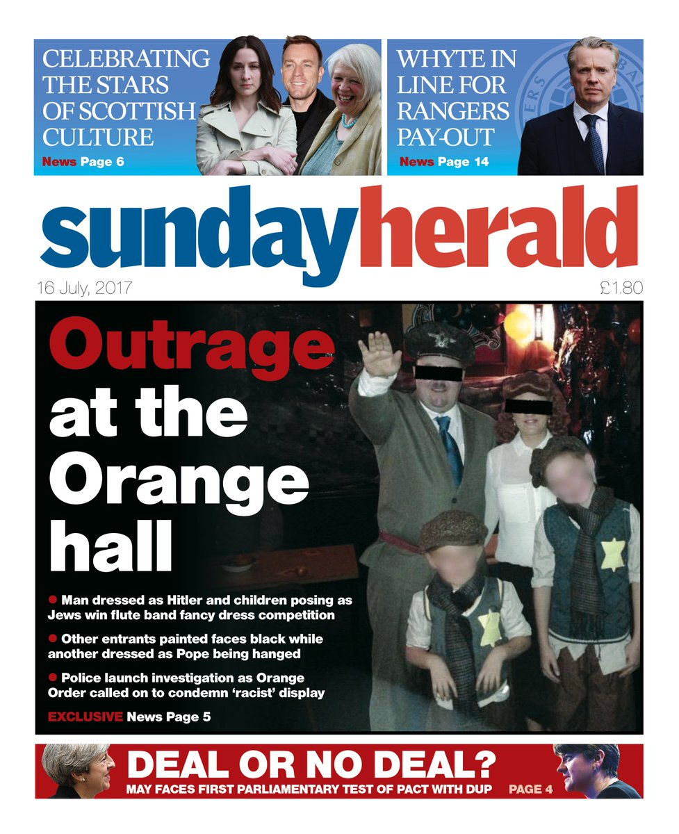 Our front page: Outrage at the Orange hall #buyapaper #scotpapers https://t.co/XhfXJKgIq8