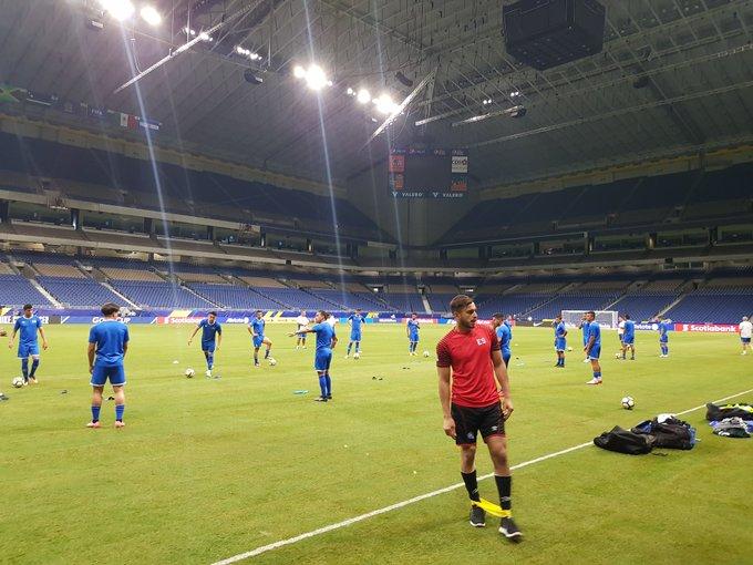 Copa Oro 2017: El Salvador vs Jamaica. Preparacion del juego. DEzyxU2UAAAeE7Z