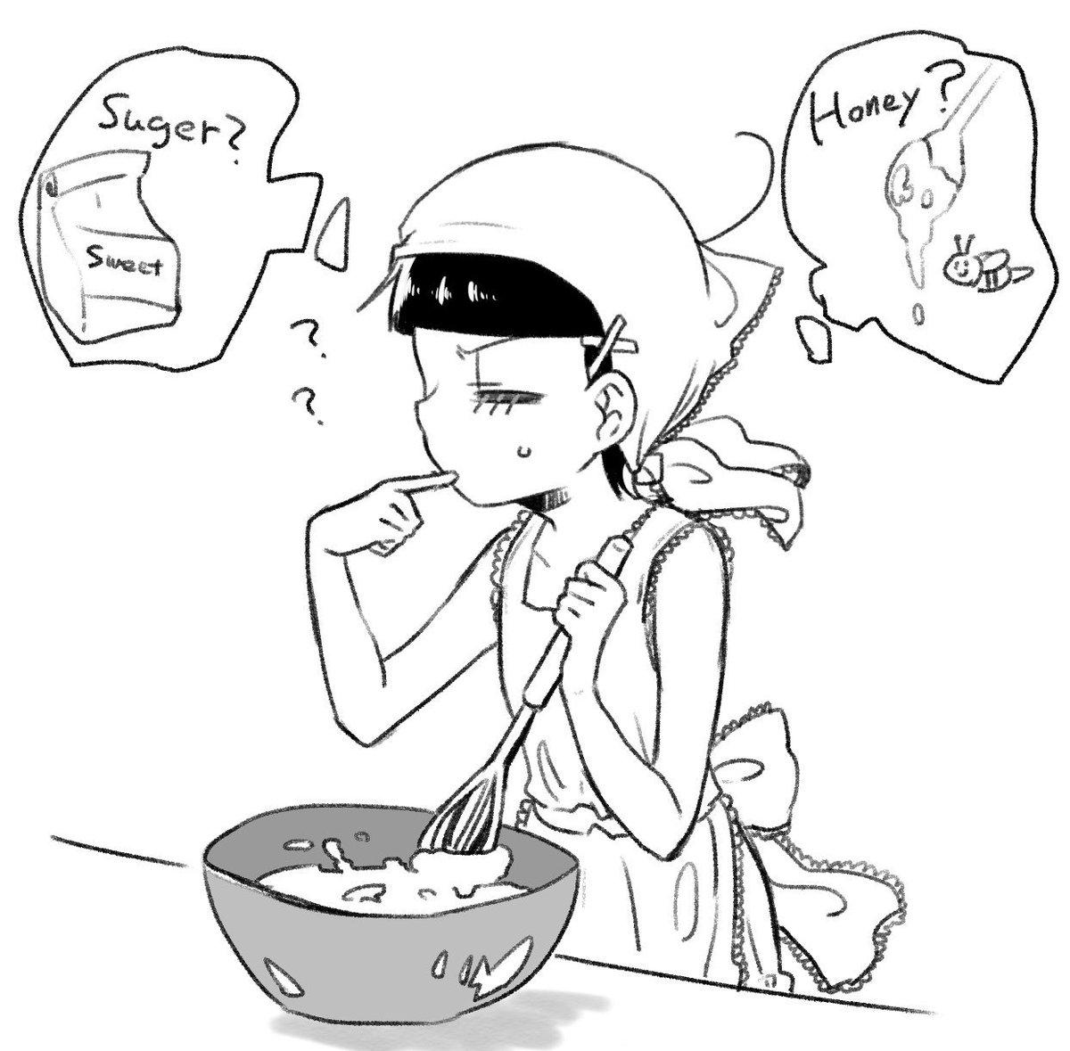 スイーツ作り【カラ十まんが】