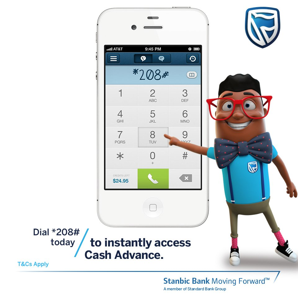 stanbic bank kenya on twitter need a quick loan or a salary advance dont visit the bank simply dial 208 from your mobile phone today