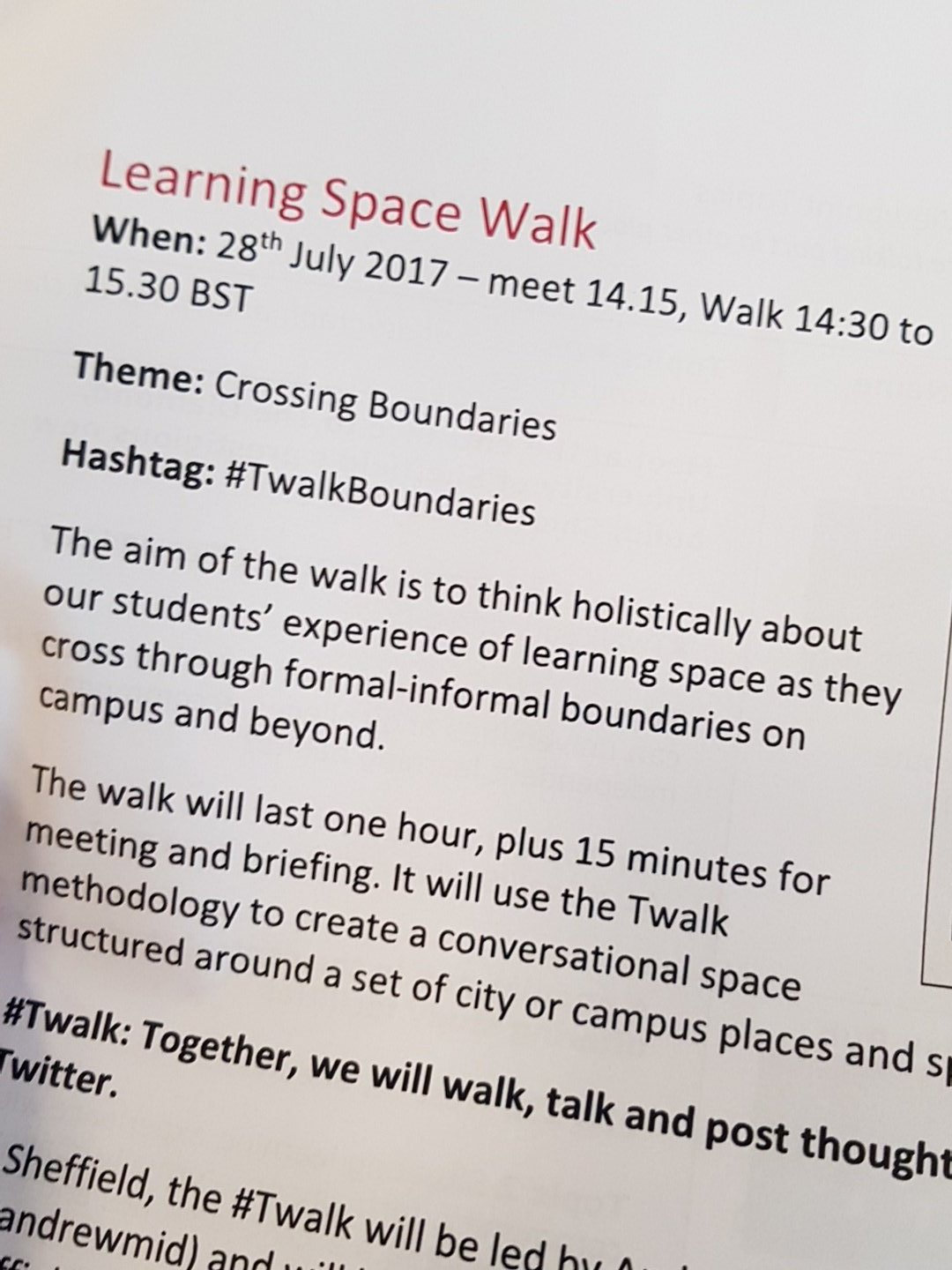 About to experience a twalk #twalkboundaries https://t.co/JIWOKaR7MD