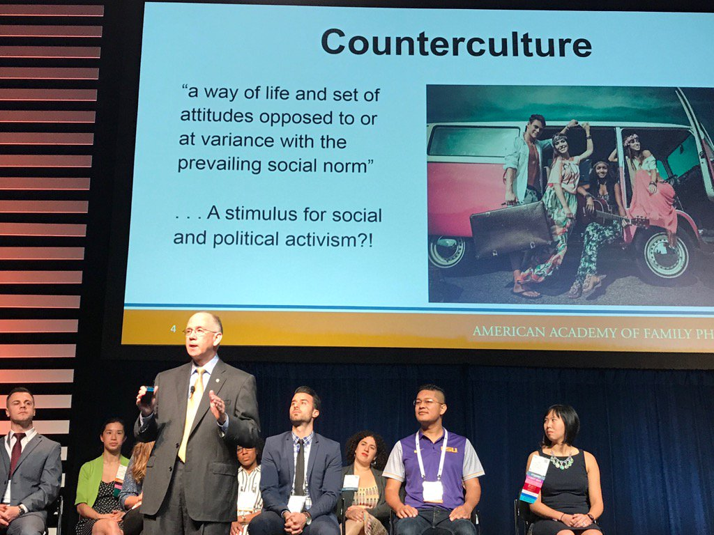 AAFP @dhenleyceo discussing political advocacy and counterculture #AAFPNC https://t.co/6yr8DKR3ve