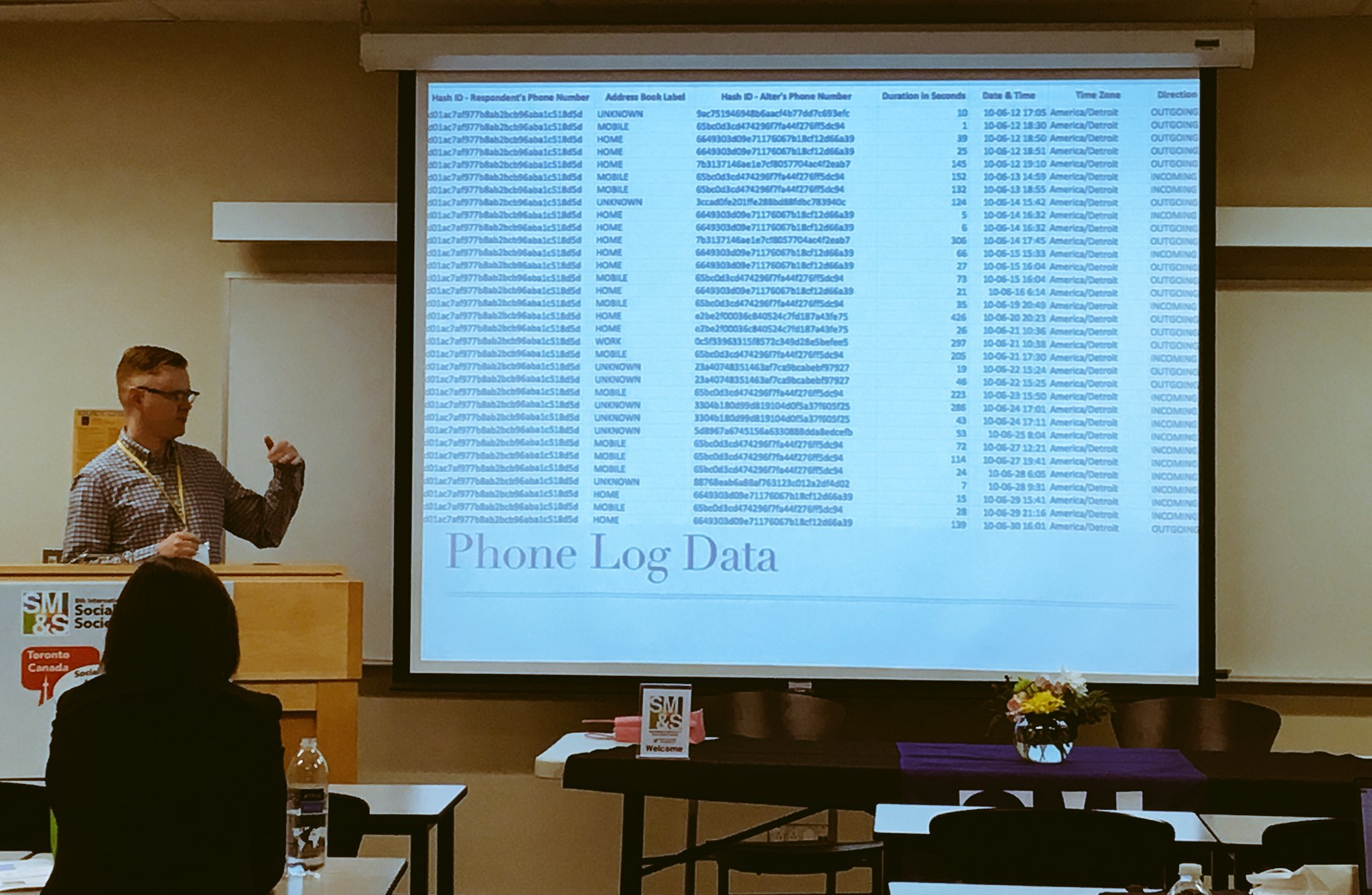 Tracing social relationships through mobile connections w/ Jeffrey Boase got me like 📲🤔 #SMSociety https://t.co/tksZuCNnAi