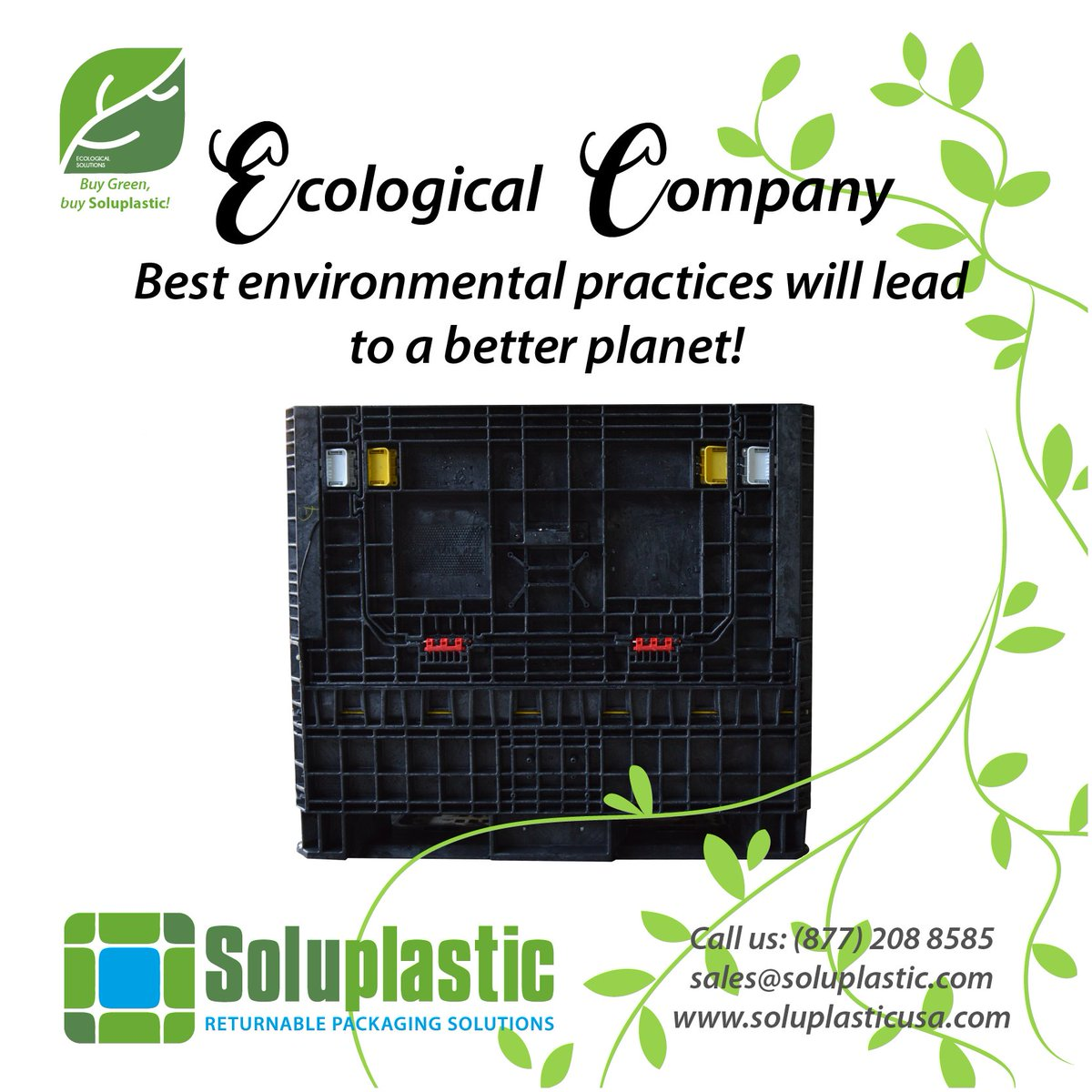 We care about the #environment! #GreenCompany #EcologicalCompany Phone: (877) 208 8585 sales@soluplastic.com  http://www. soluplasticusa.com  &nbsp;  <br>http://pic.twitter.com/gLea7gsKLo