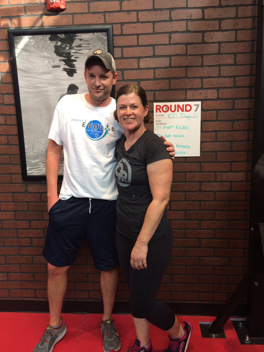 """9Round CLT NODA on Twitter: """"Open 100 days! So guess what today's workout  is like :) Love working out with members like William-although he made me  do Round ..."""