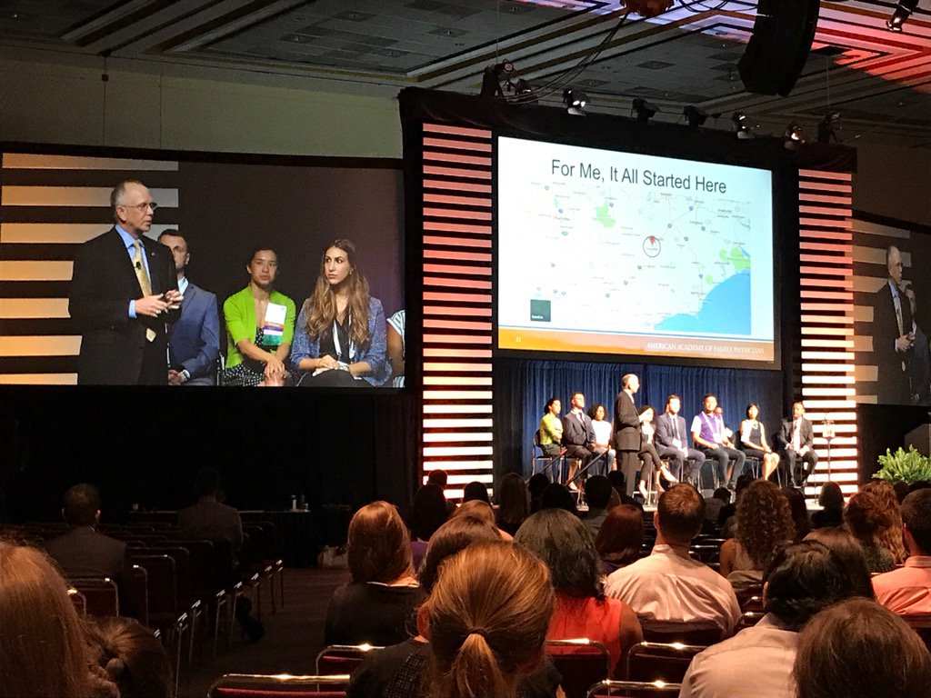 @aafp EVP Dr Doug Henley talking about his family medicine roots to thousands of students and residents #AAFPNC https://t.co/Ls0YvvfQWn