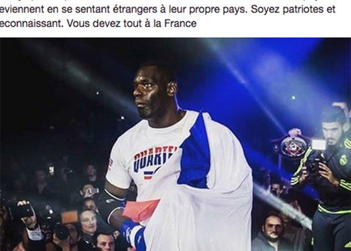 La très belle leçon de patriotisme du boxeur français Patrice Quarteron >> https://t.co/mDgLtos9iP