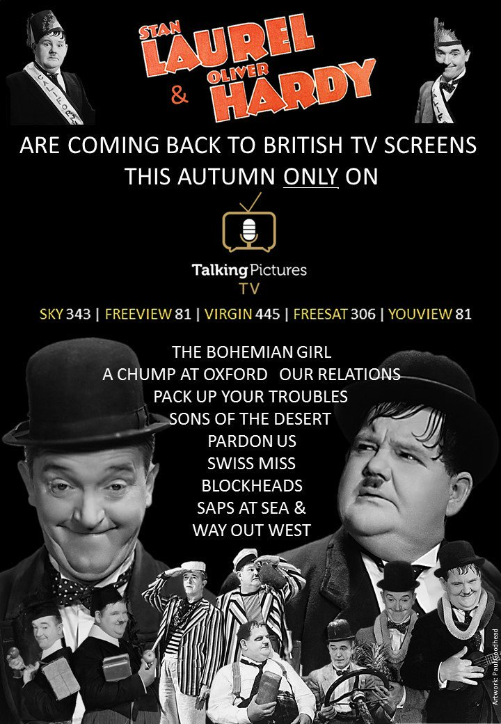 YO hurrah RT @Stan_And_Ollie @TalkingPicsTV will be showing classic #LaurelAndHardy films on UK TV screens soon https://t.co/bVS571pq9Q