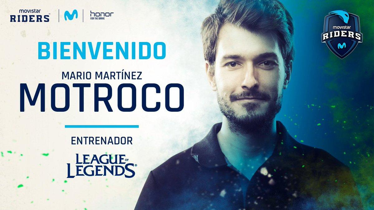 Motroco, nuevo entrenador de League of Legends de Movistar Riders via twitter @Movistar_Riders