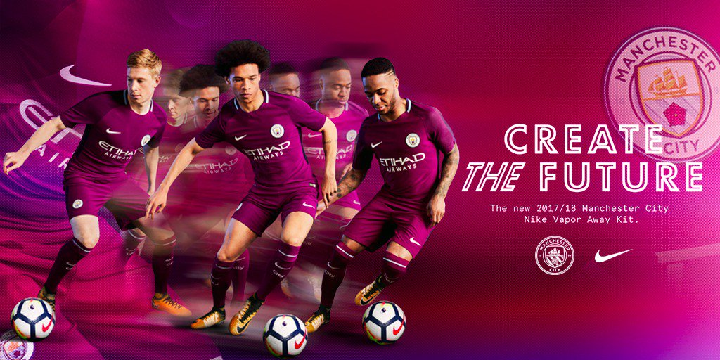 Join us in the new @ManCity Away Kit. Available now: https://t.co/QlqYwxYWZU #createthefuture #nikefootball https://t.co/we03Cp18Ug