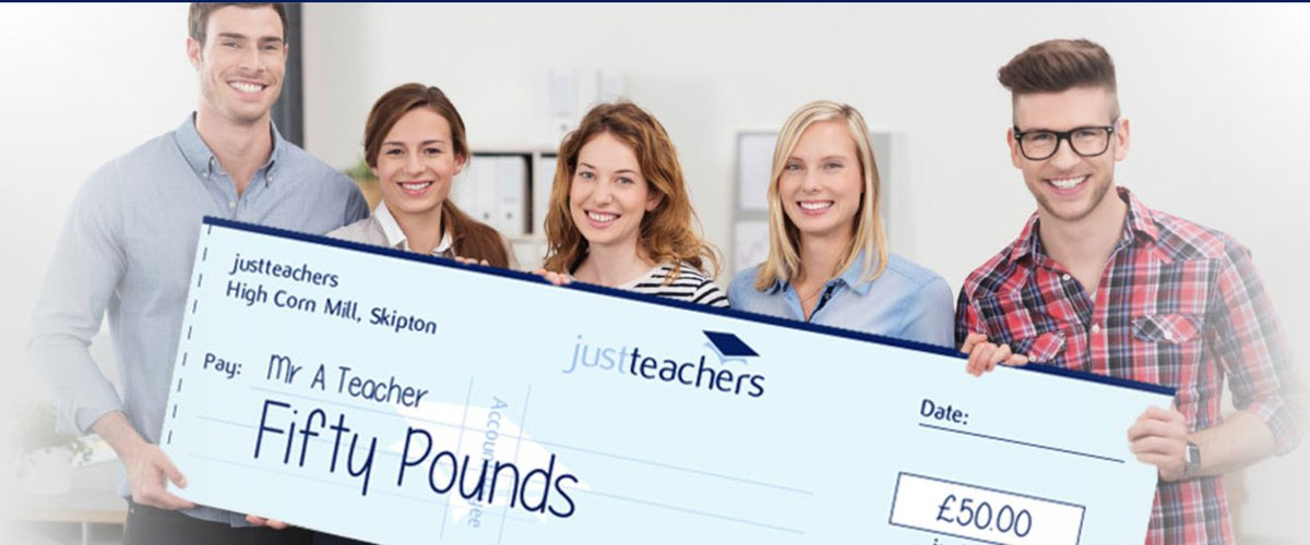 test Twitter Media - You can easily earn £50 by recommending a #teacher, TA or cover supervisor to work with justteachers. Simply go to https://t.co/NqwBwj7Fgx https://t.co/iShIxXenhy