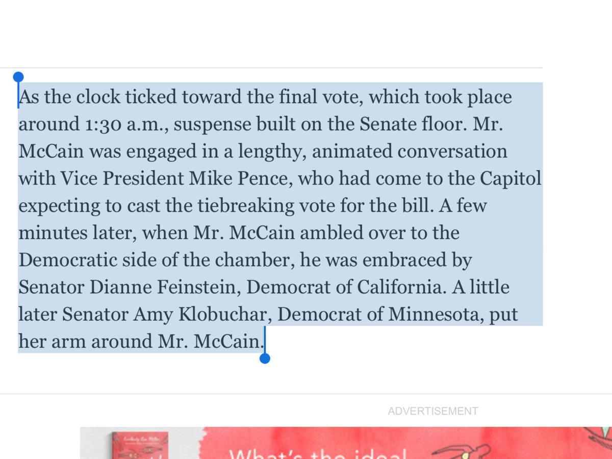 McCain kind of left Pence at the alter https://t.co/9MkCGGgZCM