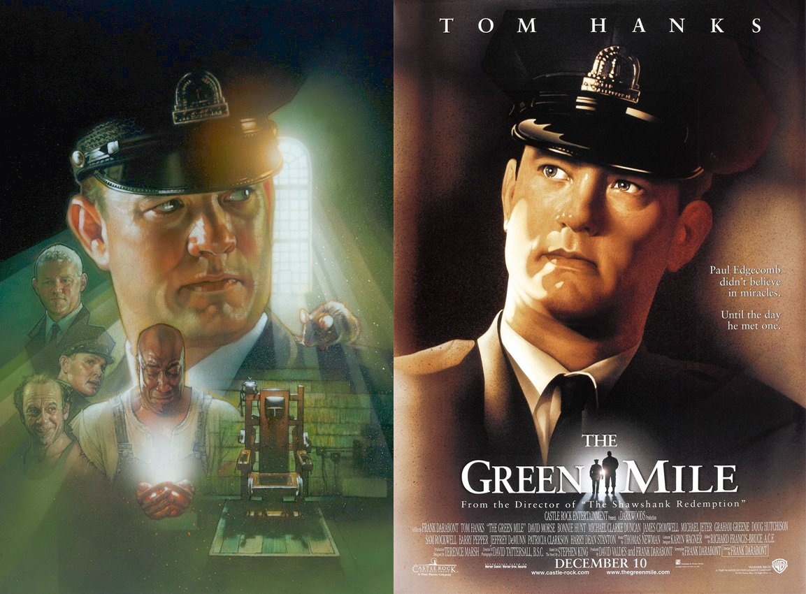 Weekend highlight: we're showing Frank Darabont's Oscar-nominated Stephen King adaptation The Green Mile on Saturday night at 9pm.