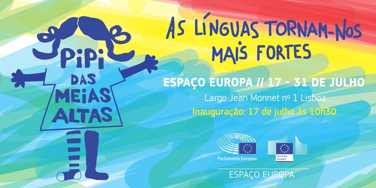 Visite a exposição 'As Línguas tornam-nos mais fortes – Pipi das Meias Altas' no #EspaçoEuropa até ao fim deste mês :)
