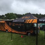 Set up beginning @twenteefour12 in Plymouth after a long drive from @RideLondon - Team arriving soon & @use_exposure lights on charge!