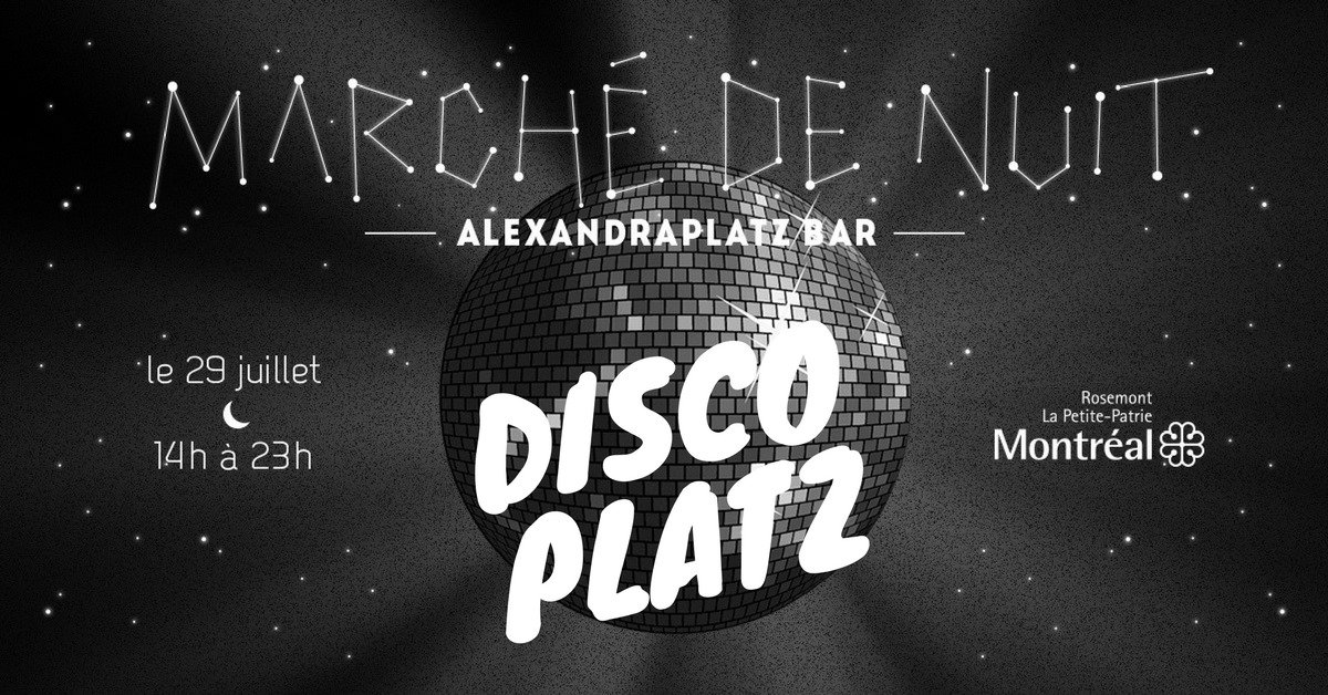 Attention disco lovers -- the Alexandra Platz night market is bringing you some Saturday Night Fever  https://t.co/eOhILoUsFQ
