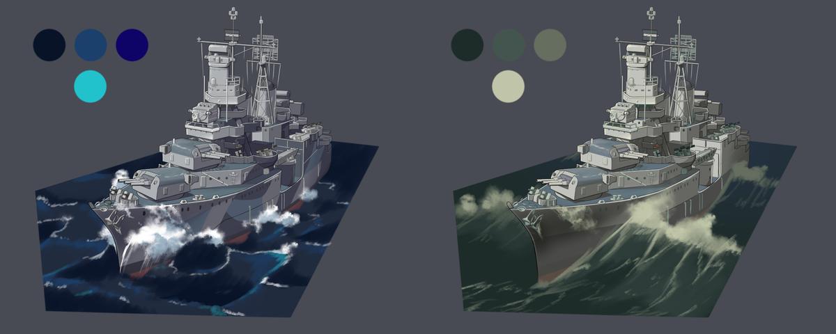 いろいろ描いてまとめた自分用資料。海描くのだんだん楽しくなってきた。