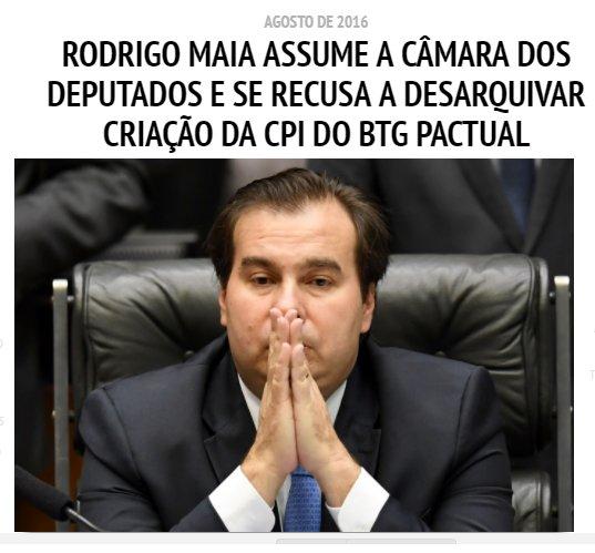 Rodrigo Maia é dono de escritório usado pelos grupos Odebrecht e BTG Pactual https://t.co/tZbakvxDKL