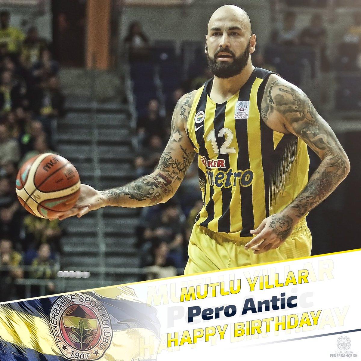 Bugün oyuncumuz Pero Antic'in doğum günü...