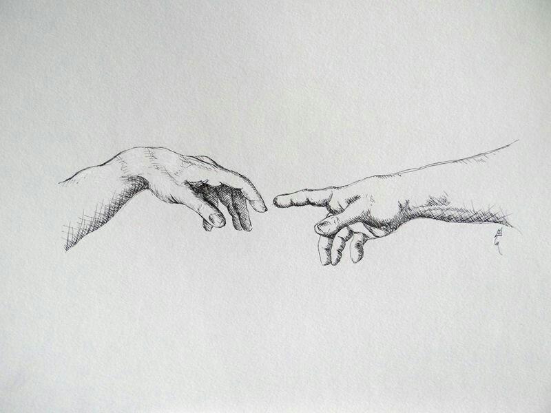 creative hand drawings - 800×600