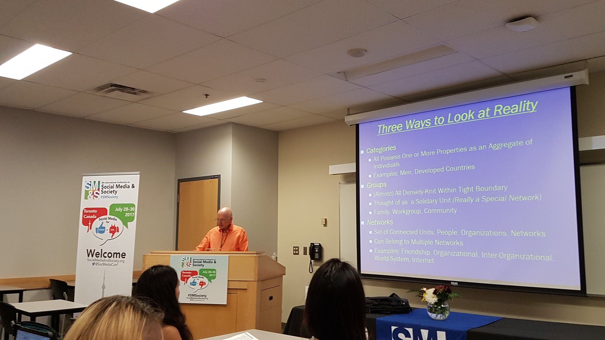 What a privilege to hear the legendary Dr. Berry Wellman talk about network!!! #SMSociety https://t.co/A644e15EKR