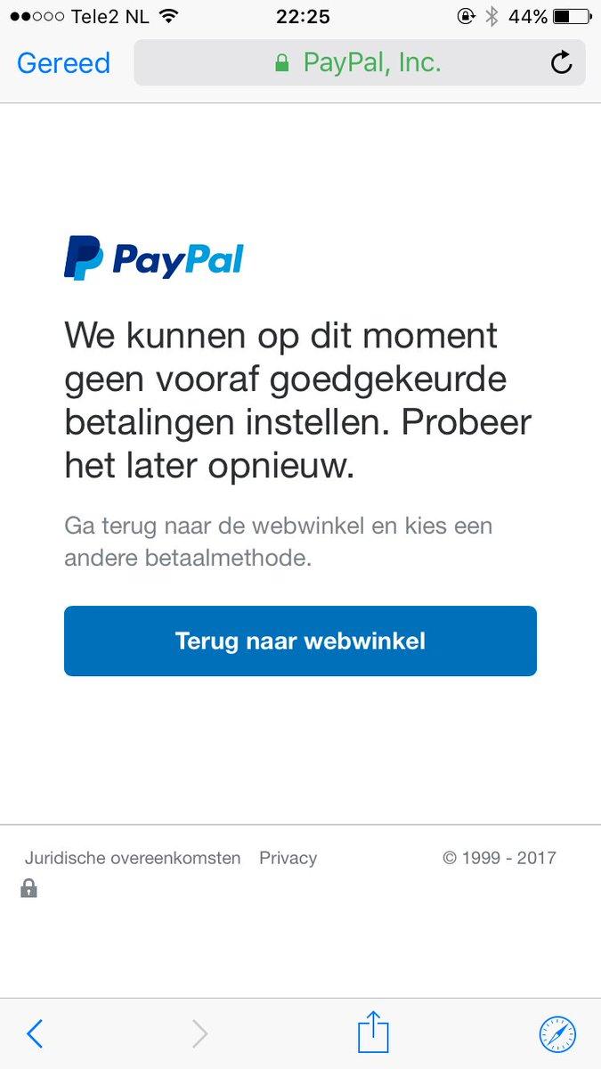 Betaling lukt niet paypal Betaling met