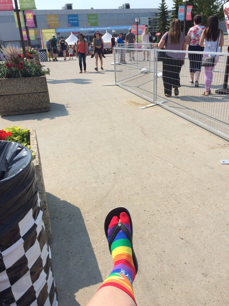 Ready to do K-days in style! #yegpride @Northlands<br>http://pic.twitter.com/b6Vkn3vNmW
