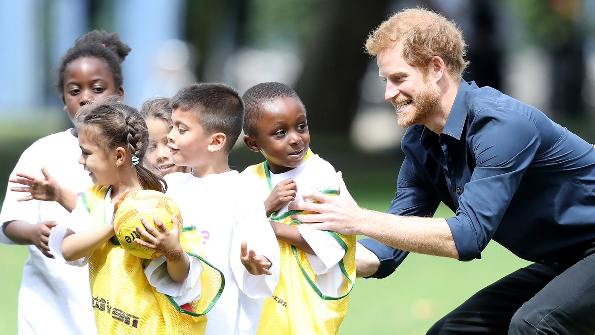 These pics of Prince Harry playing with kids prove he's definitely the fun uncle https://t.co/dcj1t2vkff