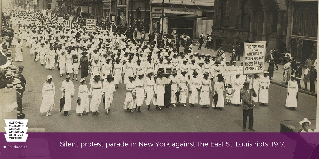 #OTD in 1917, over 10K people marched down NYC's 5th Ave in the Negro Silent Protest Parade against anti-black violence. #APeoplesJourney