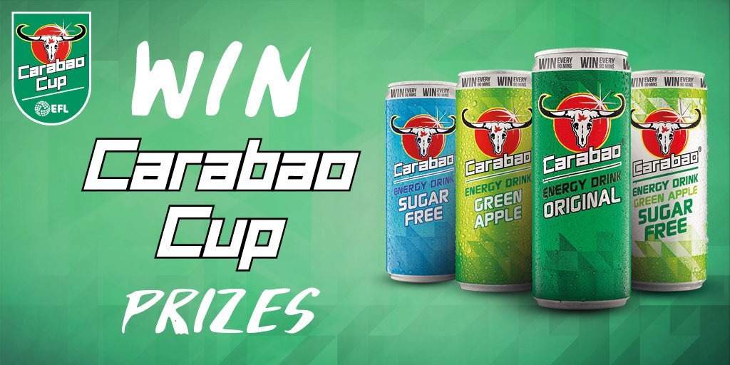 WIN #CarabaoCup prizes and cash every 90 mins with Carabao Energy Drink! Visit https://t.co/ZoHI02zkss for more. T&Cs apply. #BringItOn