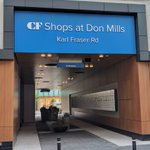 The weather is going to be great this weekend, perfect weekend to checkout the signs that we put up at Shops at Don Mills.