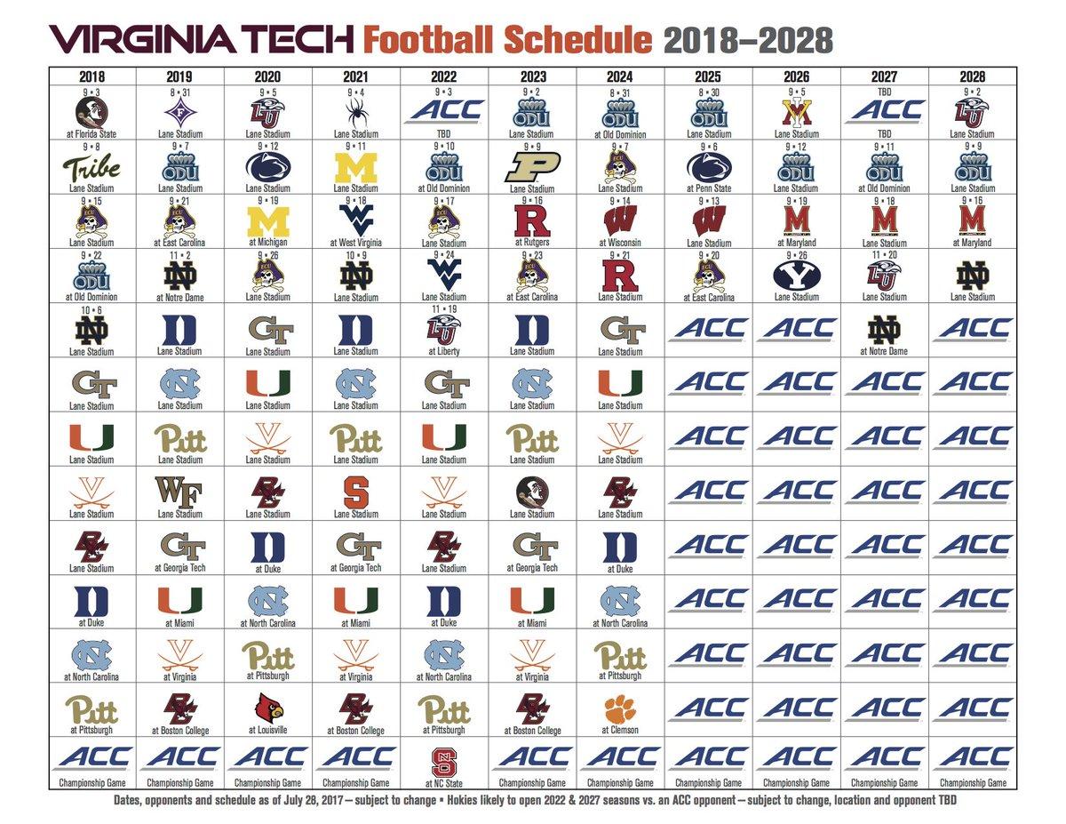 Virginia Tech Football Schedule 2020.Virginia Tech Football On Twitter Future Schedules