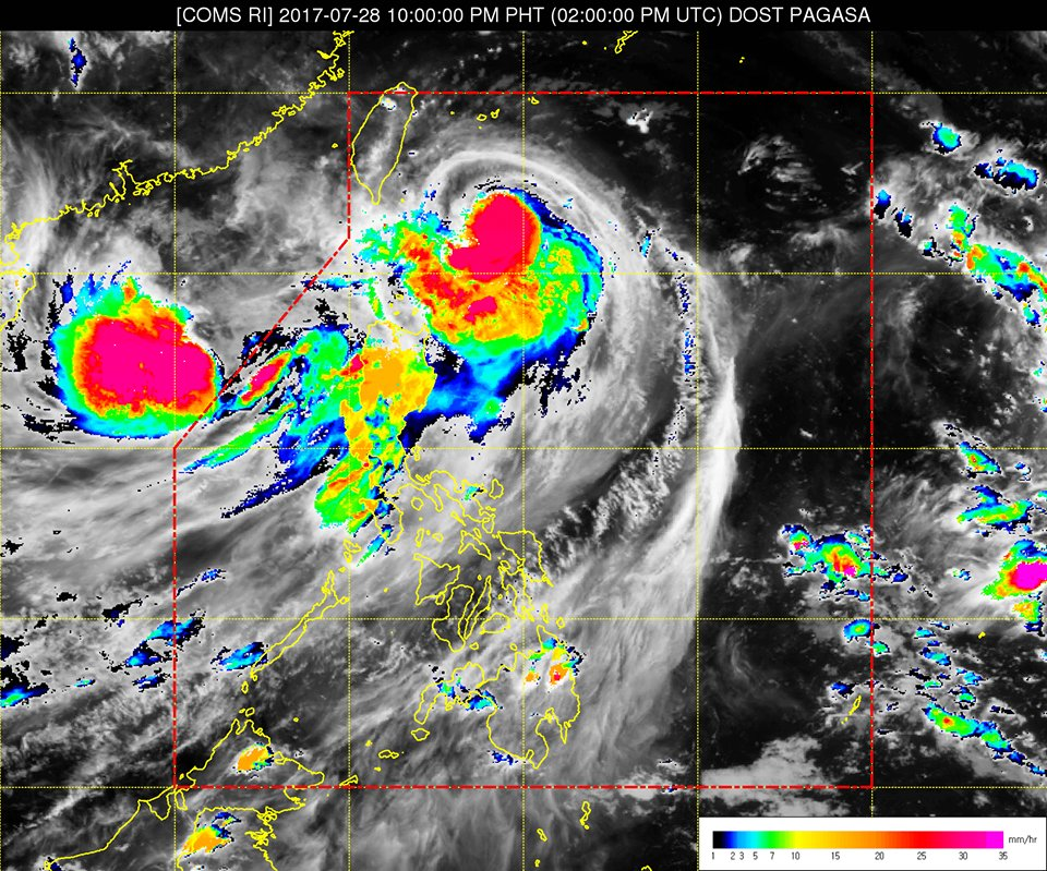 [As of 11PM] Typhoon #GorioPH has further intensified and slightly accelerated while maintaining its direction. | via @dost_pagasa