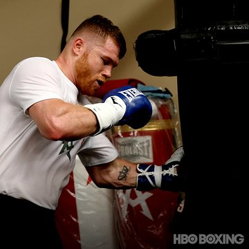 Time to go to work. @Canelo putting in gym time in San Diego ahead of his megafight vs. @GGGBoxing Sept. 16 on @HBO PPV. #CaneloGGG
