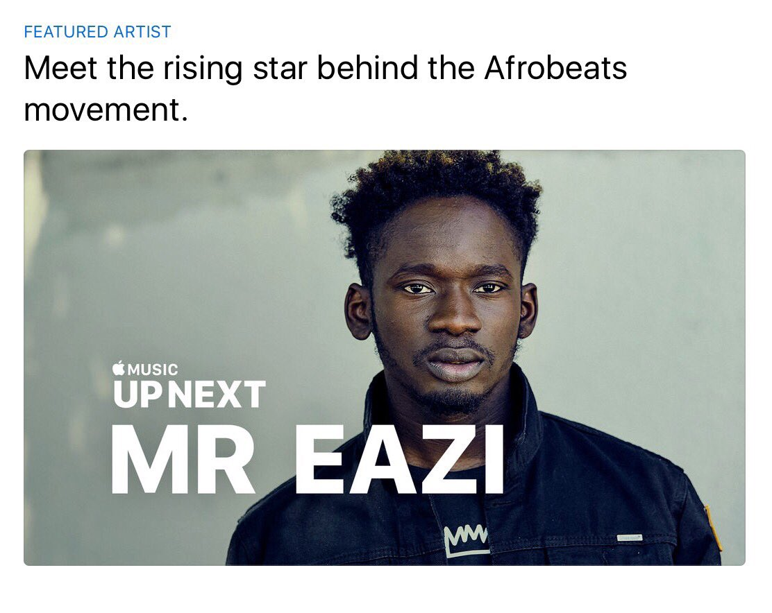 Just watched @mreazi 's UP NEXT feature on @AppleMusic Super proud of you hommie!