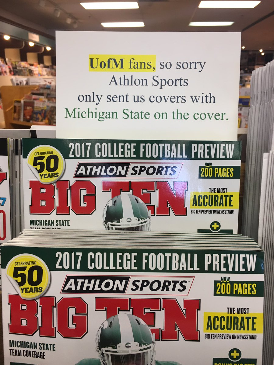 Picking up a little reading material in Ann Arbor #whyIloveCFB https://t.co/zk3QZ9UUGk