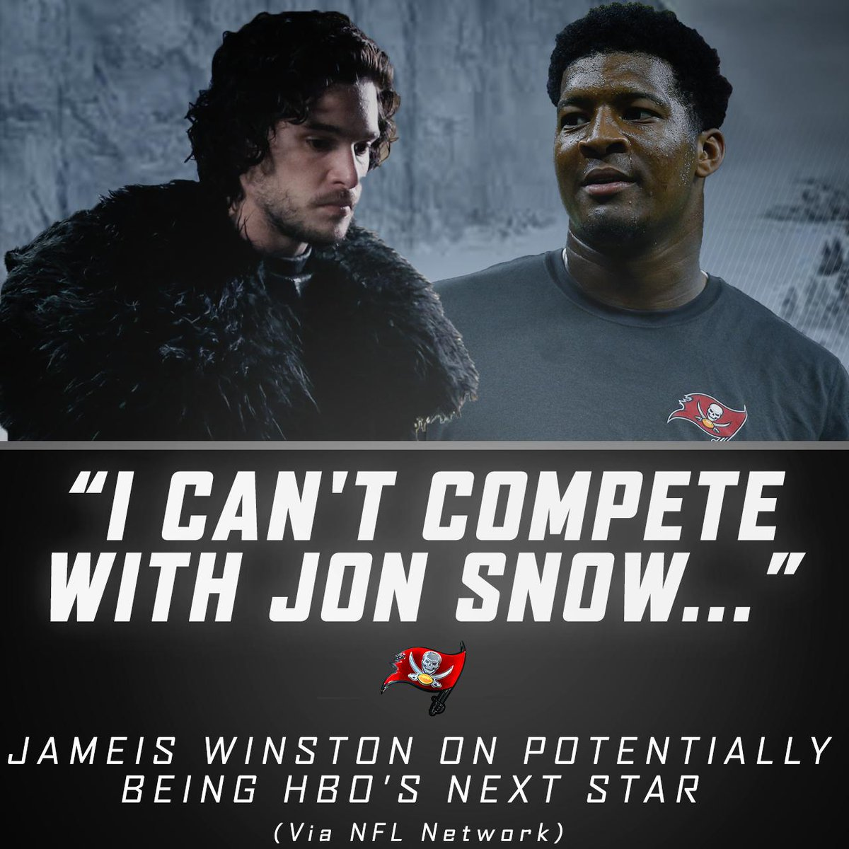 """Jameis Winston will be appearing on HBO's """"Hard Knocks.""""  But the QB knows he can't compete with the new King in the North."""