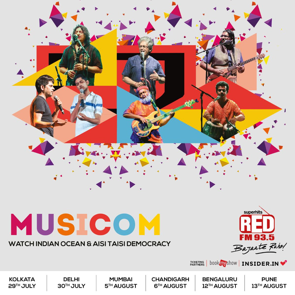 Kickstarting @RedFMIndia  #musicom tonight at Kolkata nazrul manch 6 pm onwards, with @AisiTaisiDemo  see you tonight!pic.twitter.com/nDBxj8mLZG