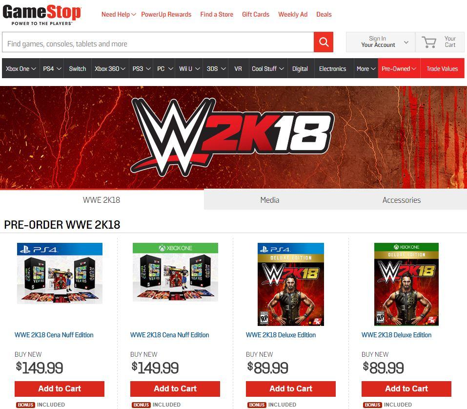 wwe 2k19 collectors edition pre order