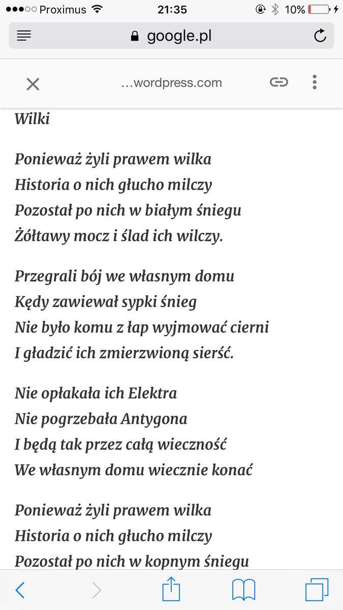 Dominika Cosic בטוויטר Dla Mnie Te Dwa Wiersze Najbardziej