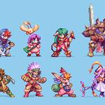 Image for the Tweet beginning: Grandia main characters #pixelart had