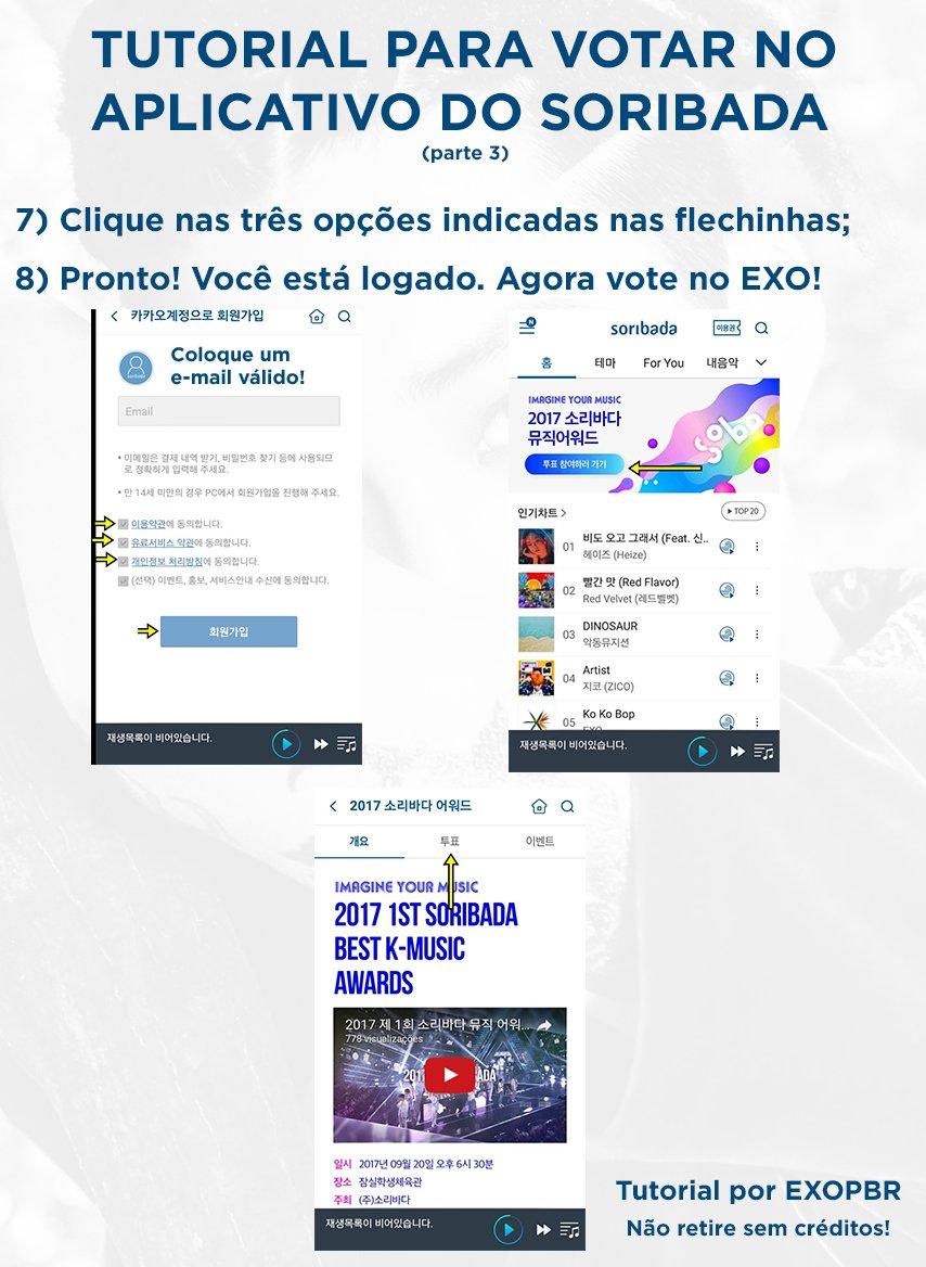 """EXOPBR 💪 on Twitter: """"[TUTORIAL] Como votar no #EXO na premiação do Soribada! #2 https://t.co/iB24f6tc8s"""""""