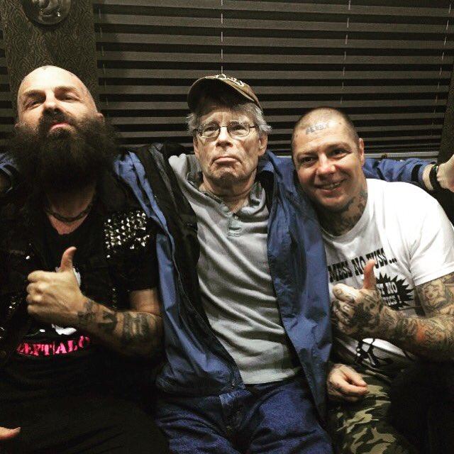 Stephen King, Lars, and me. Last in night Bangor, Maine. https://t.co/xchk4ZPw8P