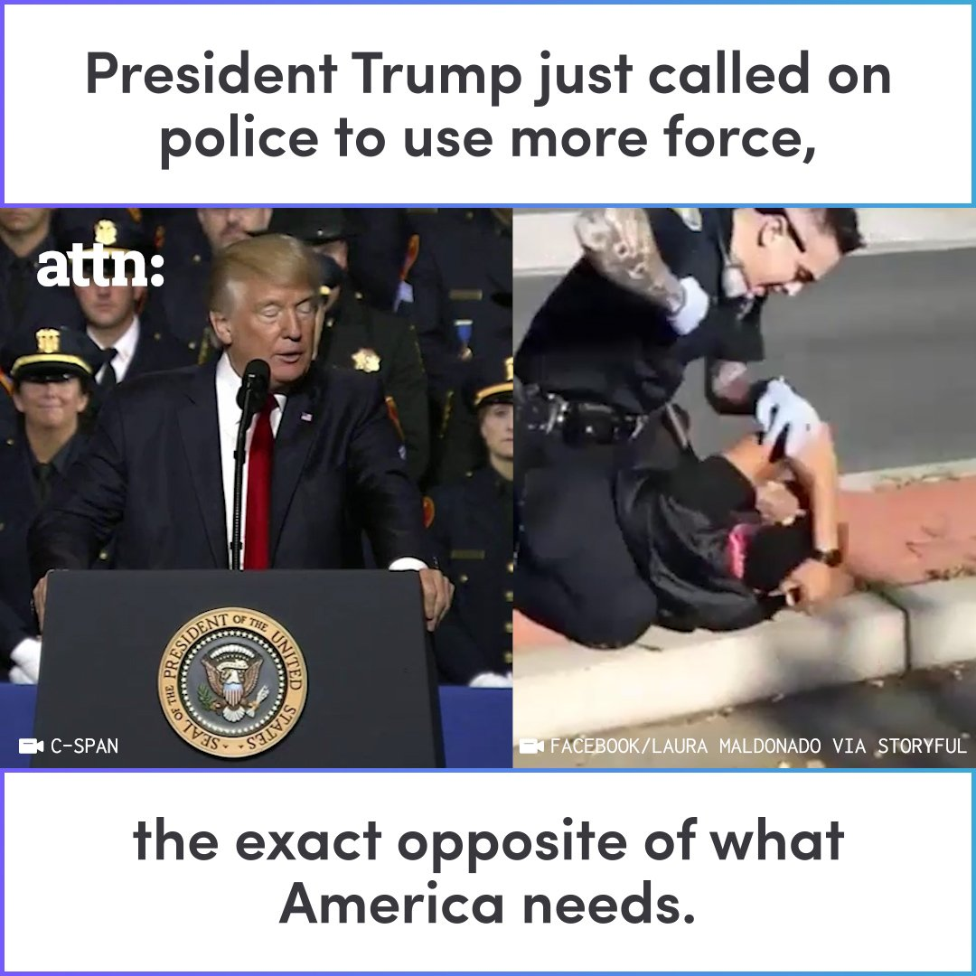 President Hate aka 45 encouraging Police to be violent. There's something very wrong with 45, maybe he suffers from a mental illness. I hope he gets the medical help he so desperately needs. #VoteTrumpOut2020