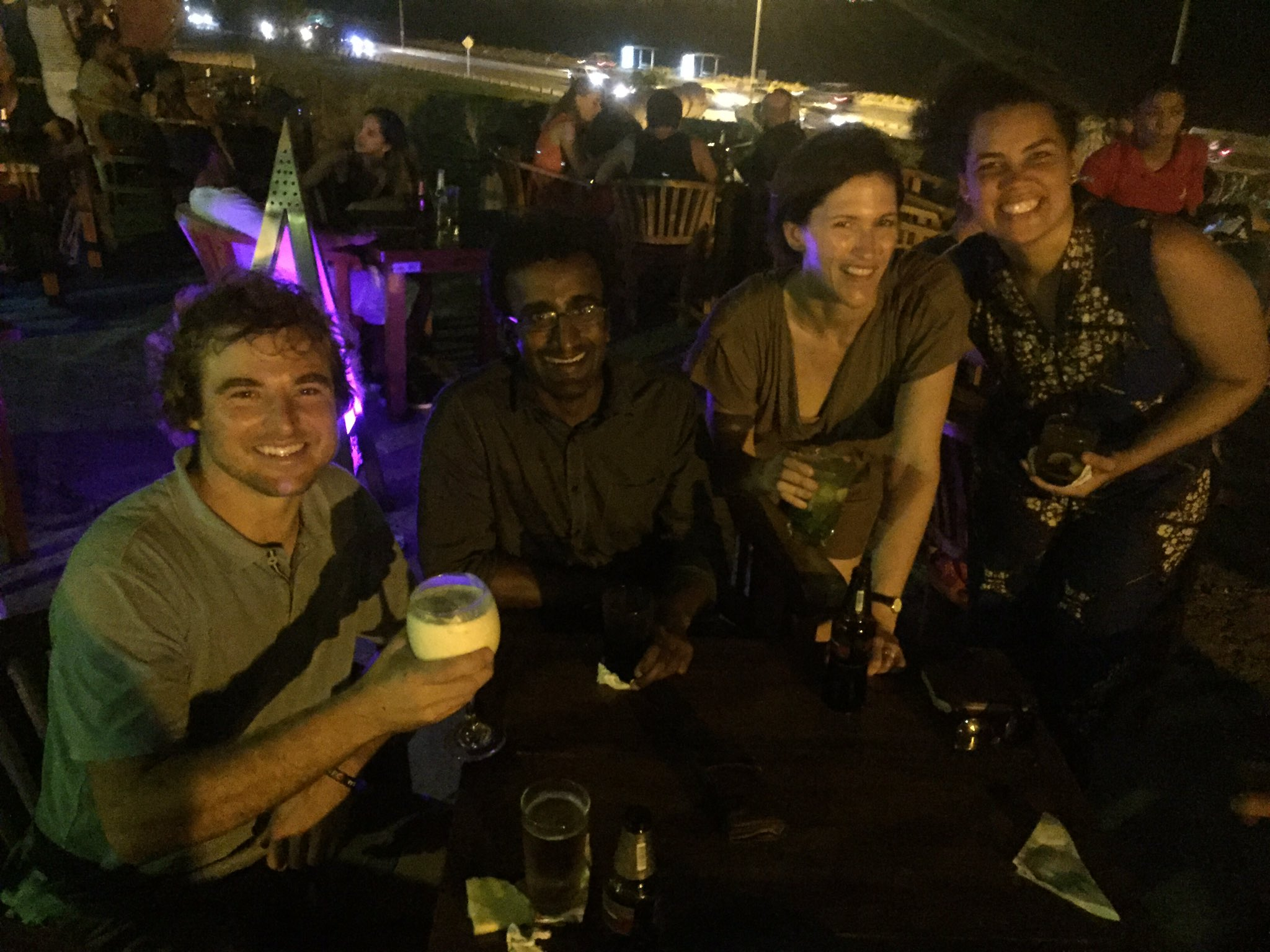 My last night #ICCB2017 w/ US science photographer, South African biologist, Angolan conservationist. Truly global affair. @NatGeoExplorers https://t.co/QQazs7jVul