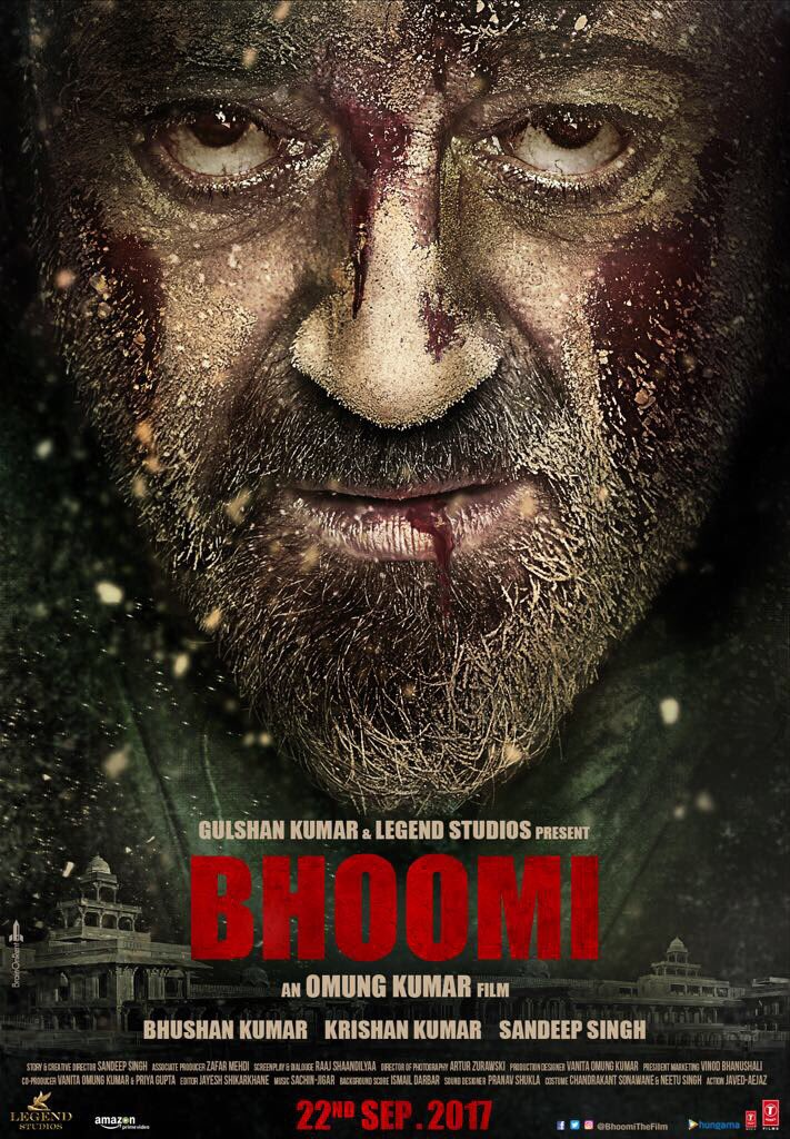 Bhoomi First Look Poster starring Sanjay Dutt