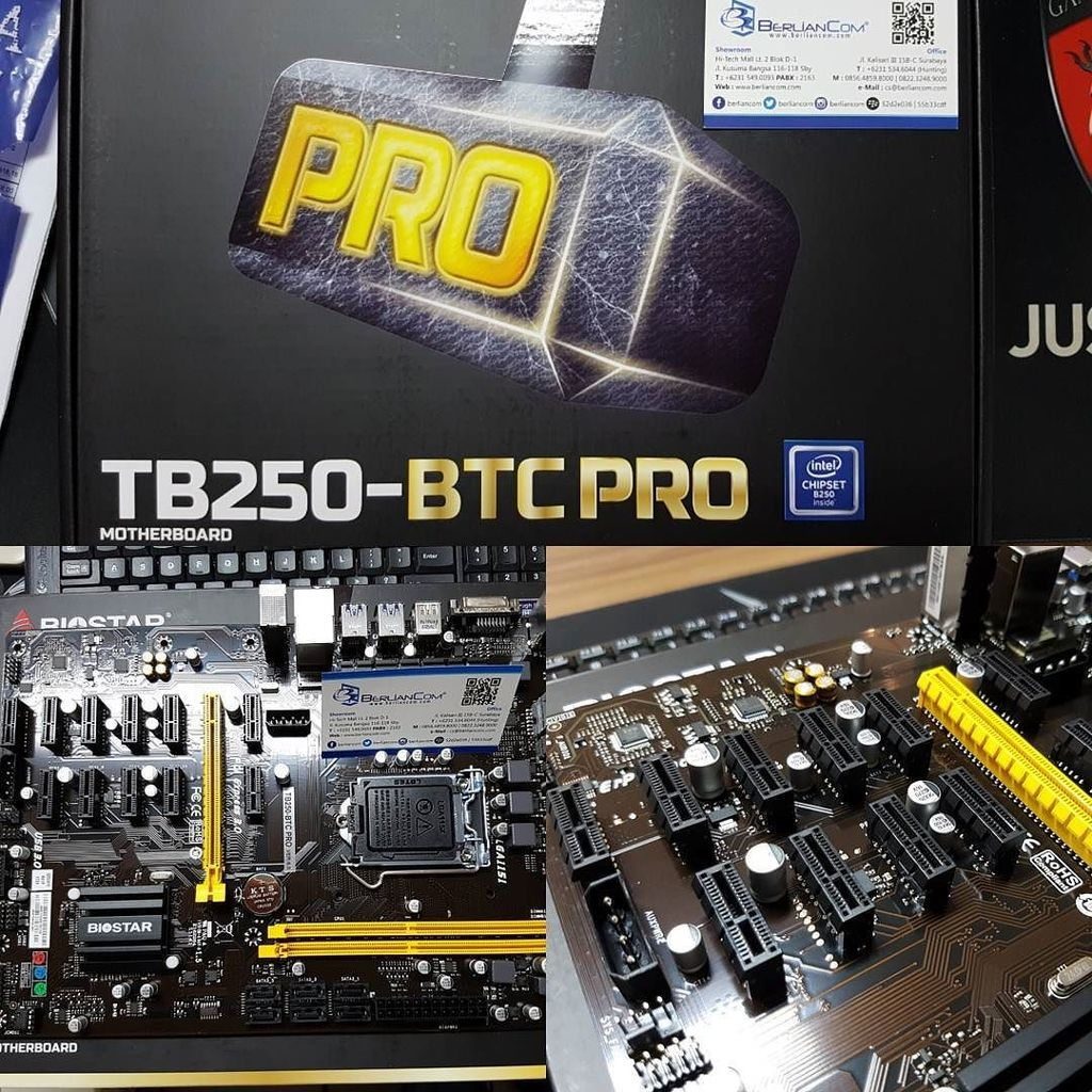 Berliancom On Twitter Ready Biostar Tb250 Btc Pro 12x Pcie Motherboard Lga 1151 Bitcoin Mining Mainboard Rp3900000 Termasuk Riser