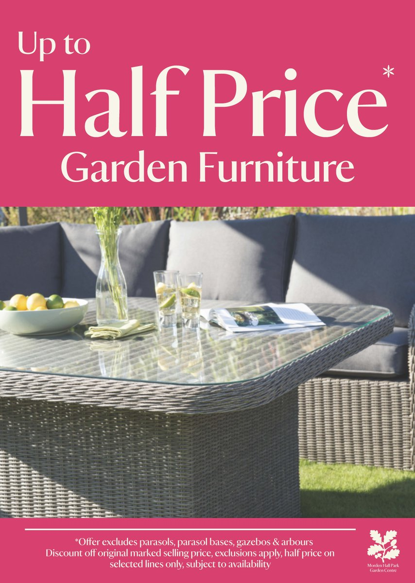 Morden Hall Park NT on Twitter   Garden furniture on sale at Morden Hall  Park Garden Centre up to half price   don t miss out   https   t co 1fiepodDjX. Morden Hall Park NT on Twitter   Garden furniture on sale at