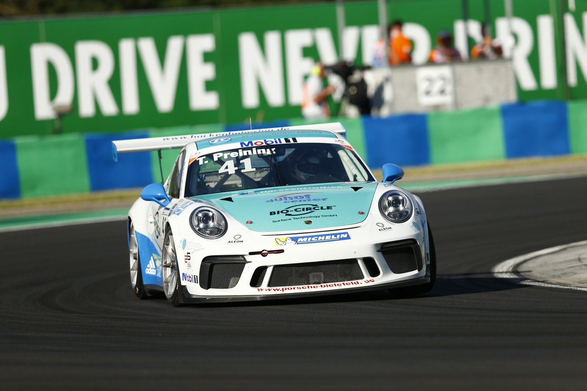 Porsche Motorsport On Twitter Pmscbuda It Is The Mobil 1 16 Supercup Debut For Porschejunior Thomaspreining Hungaroring Hungariangp