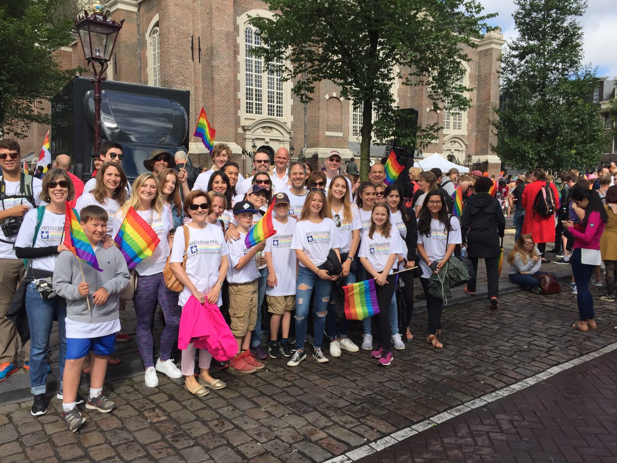 Proud to be representing at #AmsterdamPride   Walk with @usembthehague #ShowYourPride
